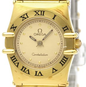 Omega Omega Constellation Quartz Gold Plated Women's Dress Watch 795.1076