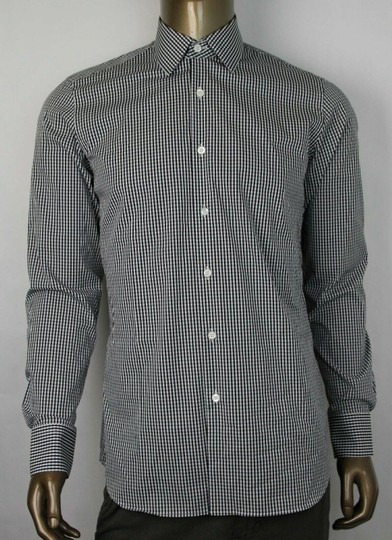 Preload https://img-static.tradesy.com/item/25828713/prada-black-blend-checkered-button-up-dress-39155-ucm608-nero-shirt-0-0-540-540.jpg