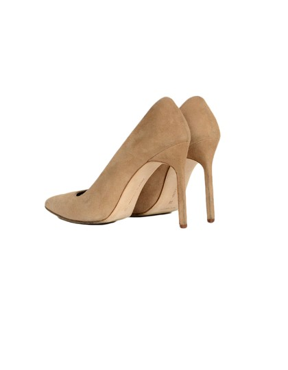 Manolo Blahnik Pointed Suede Nude Pumps Image 2