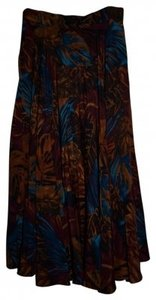 Ellen Tracy Maxi Skirt Multi