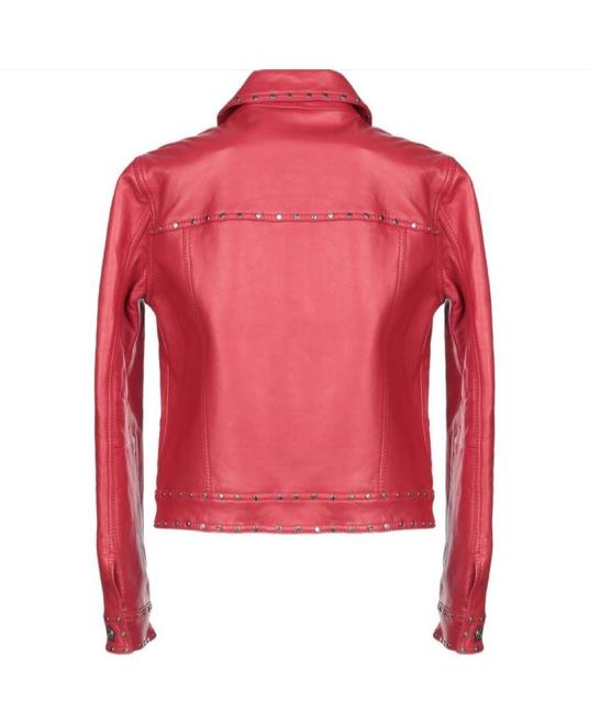 Claudie Pierlot Red Leather Jacket Image 1