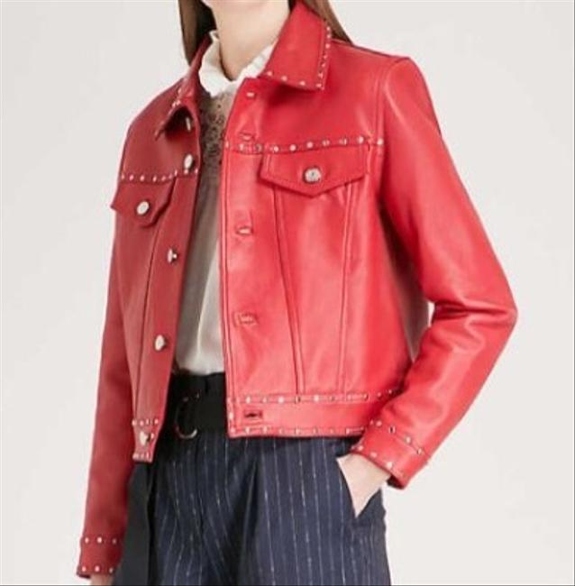 Claudie Pierlot Red Leather Jacket Image 2