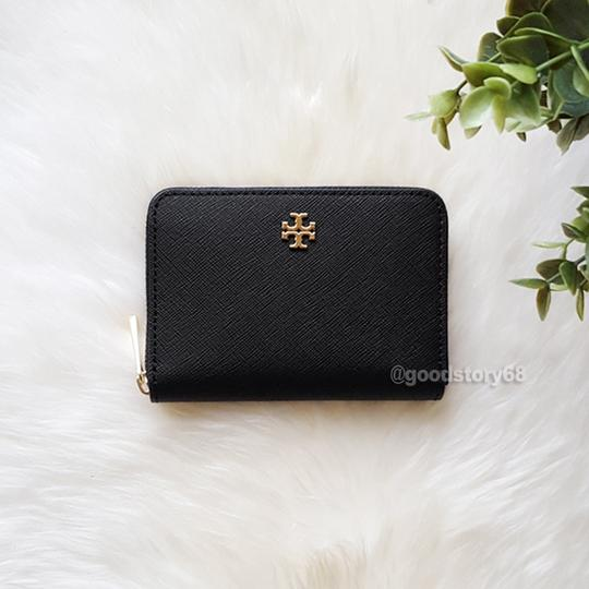 Tory Burch Tory Burch Emerson Saffiano Leather Zip Coin Case Image 1