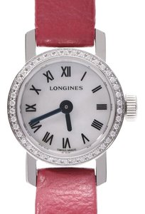 Longines LONGINES Le Classics Diamond MOP Dial Stainless Steel Leather Quartz Ladies Watch L2.303.0.8
