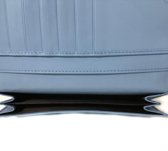 Gucci NEW GUCCI 449393 Leather Microguccissima Continental Wallet, Blue Image 9