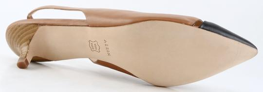 Aerin Slingback Leather Pointed Toe Caramel Black Pumps Image 2