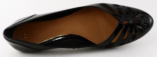 Aerin Cut-out Pointed Toe Patent Leather Black Flats Image 3