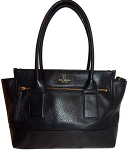 Kate Spade East West Pebbled Leather Tote in Black