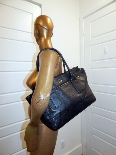 Kate Spade East West Pebbled Leather Tote in Black Image 1