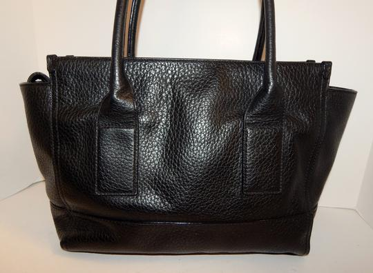 Kate Spade East West Pebbled Leather Tote in Black Image 4