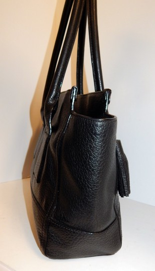 Kate Spade East West Pebbled Leather Tote in Black Image 7