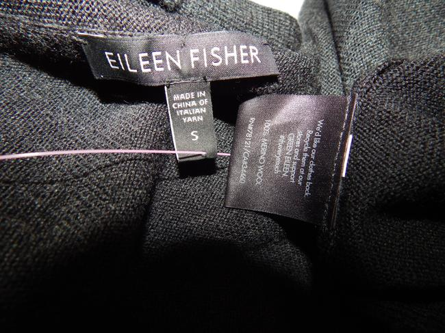 Eileen Fisher Wool Color Sweater Cardigan Knit Black Gray Jacket Image 7