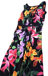 Multi colored flowers Maxi Dress by Lands' End