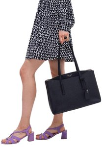 Kate Spade Margaux Leather Tote in Black
