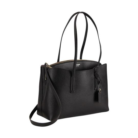 Kate Spade Margaux Leather Tote in Black Image 3