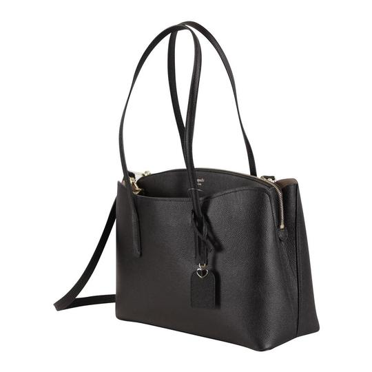 Kate Spade Margaux Leather Tote in Black Image 4
