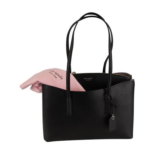 Kate Spade Margaux Leather Tote in Black Image 8