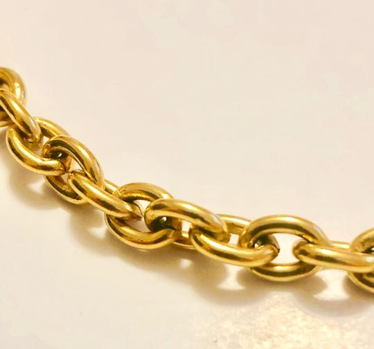 Chanel Chanel Chain Necklace - Gold Tone Metal w/ Clasp Image 2