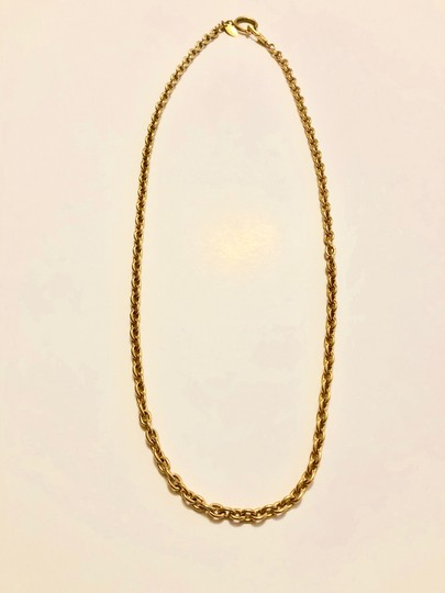 Chanel Chanel Chain Necklace - Gold Tone Metal w/ Clasp Image 3