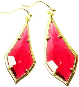 Kendra Scott KENDRA SCOTT Olivia Gold Plated Berry Glass Dangle Earrings