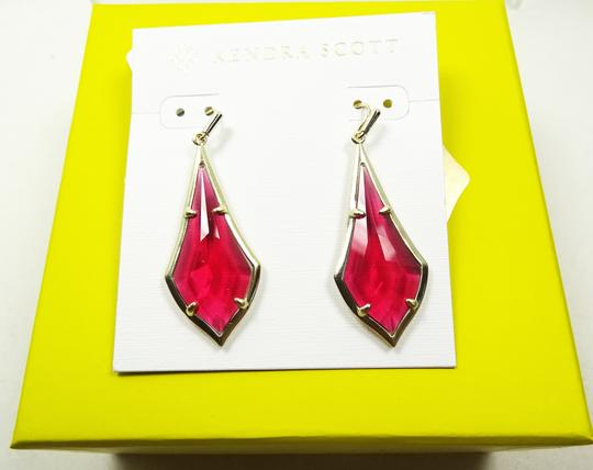 Kendra Scott KENDRA SCOTT Olivia Gold Plated Berry Glass Dangle Earrings Image 2