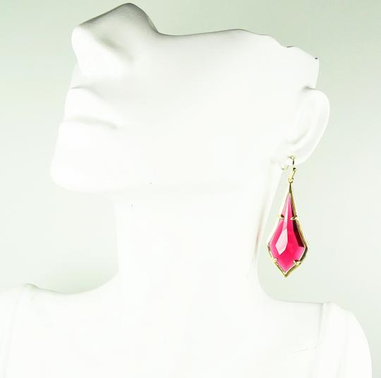 Kendra Scott KENDRA SCOTT Olivia Gold Plated Berry Glass Dangle Earrings Image 5