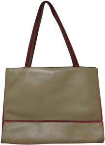 Lamar Lamarthe Leather Purse Shoulderbag Tote in taupe