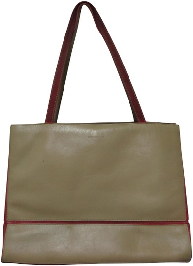 Preload https://img-static.tradesy.com/item/25829992/red-trim-shoulder-purse-taupe-leather-tote-0-1-540-540.jpg