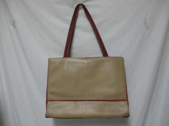 Lamar Lamarthe Leather Purse Shoulderbag Tote in taupe Image 1