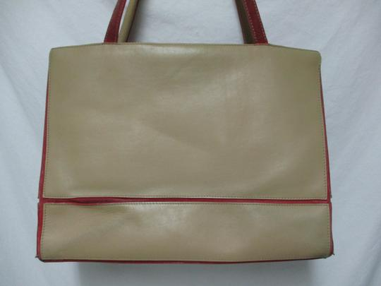 Lamar Lamarthe Leather Purse Shoulderbag Tote in taupe Image 2