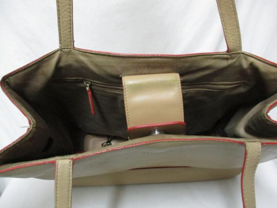 Lamar Lamarthe Leather Purse Shoulderbag Tote in taupe Image 3