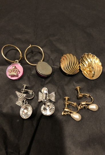 Other Total of 4 necklaces and 6 pairs of clip on earrings. Image 8