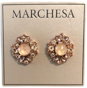 Marchesa ChampagneCrystal Post Earrings