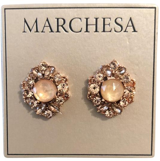 Preload https://img-static.tradesy.com/item/25830018/marchesa-rose-gold-champagnecrystal-post-earrings-0-2-540-540.jpg