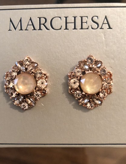 Marchesa ChampagneCrystal Post Earrings Image 1