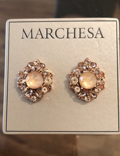 Marchesa ChampagneCrystal Post Earrings Image 2