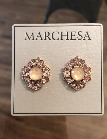 Marchesa ChampagneCrystal Post Earrings Image 3