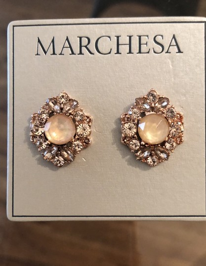 Marchesa ChampagneCrystal Post Earrings Image 5