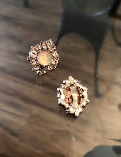 Marchesa ChampagneCrystal Post Earrings Image 7