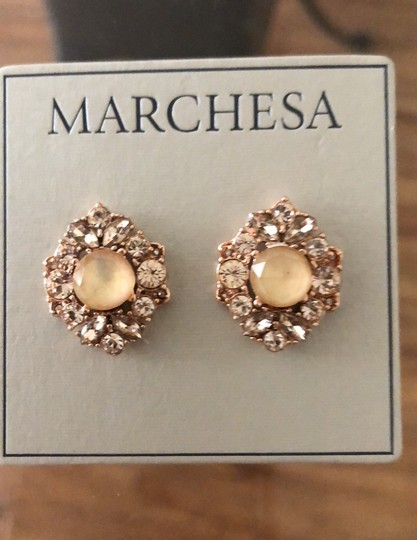 Marchesa ChampagneCrystal Post Earrings Image 8