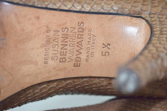 Susan Bennis/Warren Edwards Snakeskin Italian Made In Italy Brown Boots Image 8