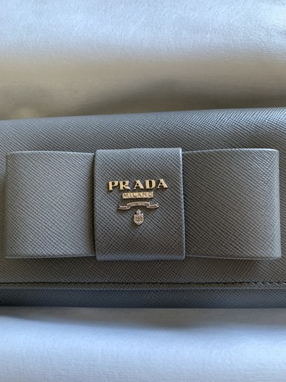 Prada Prada Marble Saffiano Leather Flap Wallet With Bow Image 1