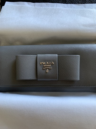 Prada Prada Marble Saffiano Leather Flap Wallet With Bow Image 2
