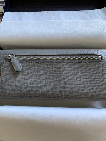 Prada Prada Marble Saffiano Leather Flap Wallet With Bow Image 4