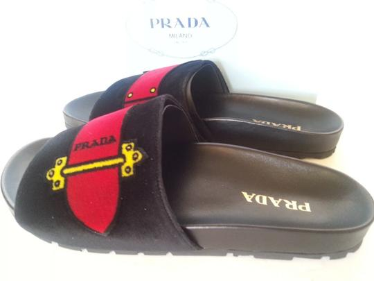 PRADA Black Multi Sandals Image 1