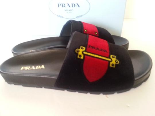 PRADA Black Multi Sandals Image 2