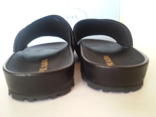 PRADA Black Multi Sandals Image 4