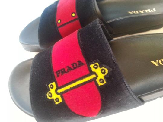 PRADA Black Multi Sandals Image 5