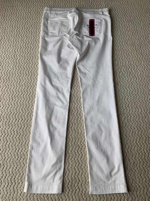 Gucci Logo Embroidered Skinny Jeans-Light Wash Image 8