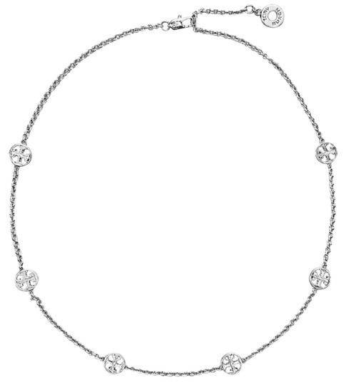 Preload https://img-static.tradesy.com/item/25830058/tory-burch-silver-delicate-logo-necklace-0-1-540-540.jpg